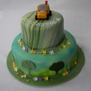 tårta med traktor