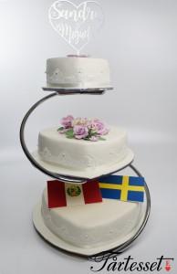 bröllopstårta flagga