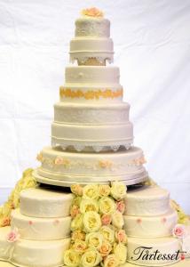 Bröllopstårta stort bröllop