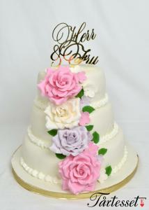 Bröllopstårta Mr&Mrs